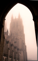 The National Cathedral in the fog
