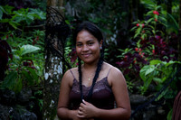 Girl by the waterfall - Pohnpei, Micronesia