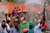 Firing guns at Cameroon Funeral celebration