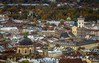 View of old town Lviv, Ukraine