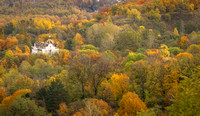 Church in the colorful hills outside of Lviv, Ukraine